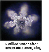 Distilled water after Resonance energising